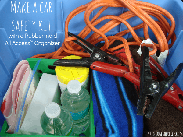 Make a car safety kit with Rubbermaid All Access Organizer