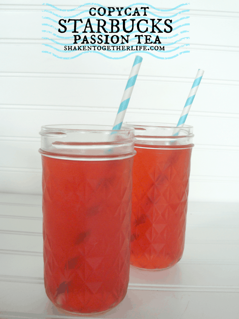 My favorite Summer drink - copycat Starbucks passion tea with a twist at shakentogetherlife.com