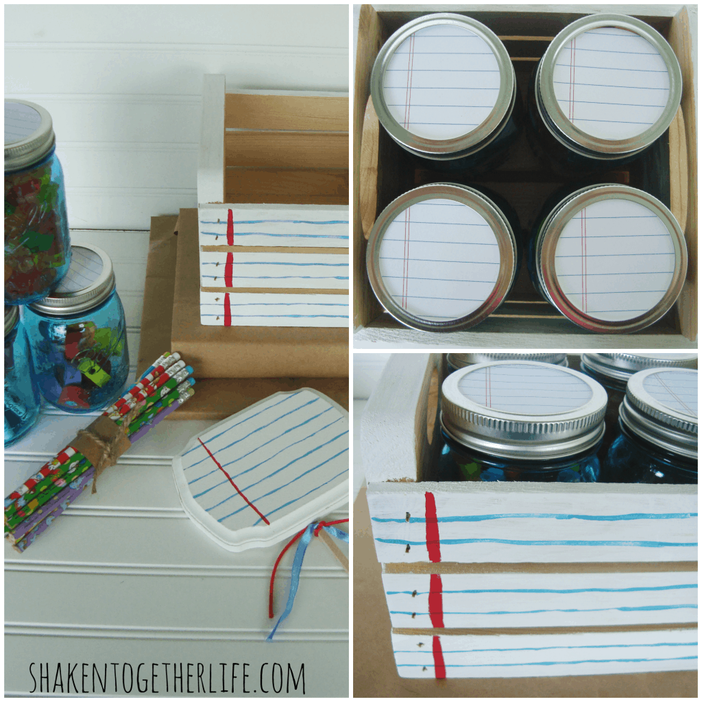 Mason jar caddy plus 10 of the best DIY back to School ideas. Awesome ways to stay organized and get ready for back to school. the36thavenue.com