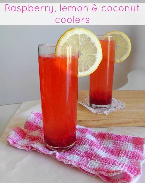 raspberry Lemon & Coconut coolers