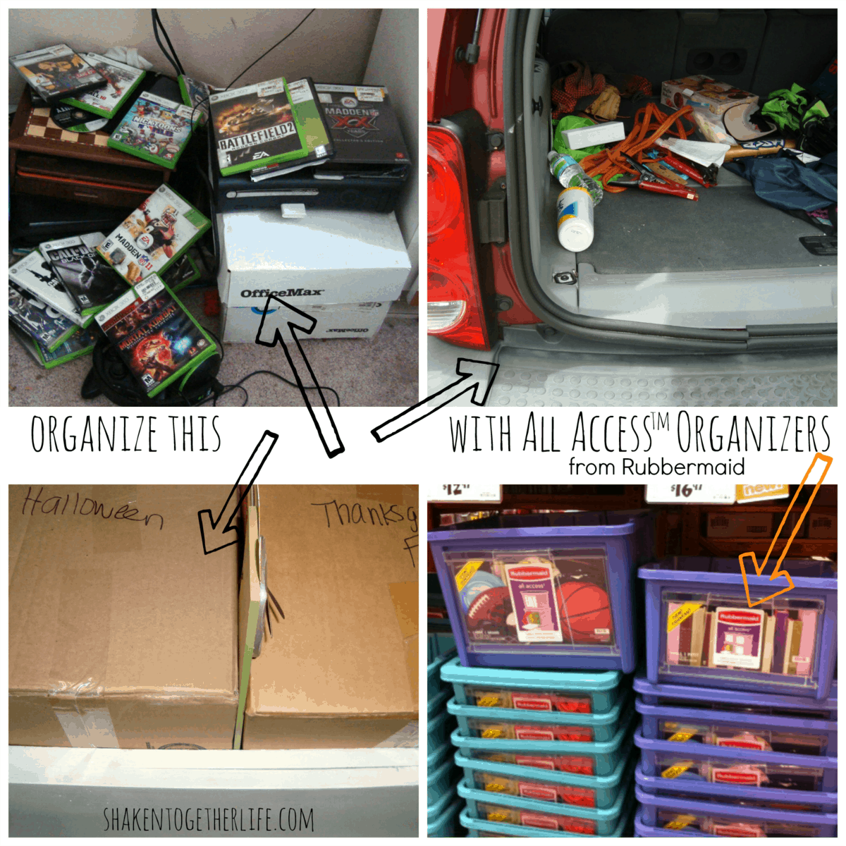 ganize your home with rubbermaid all access organizers - How To Organize Your Home