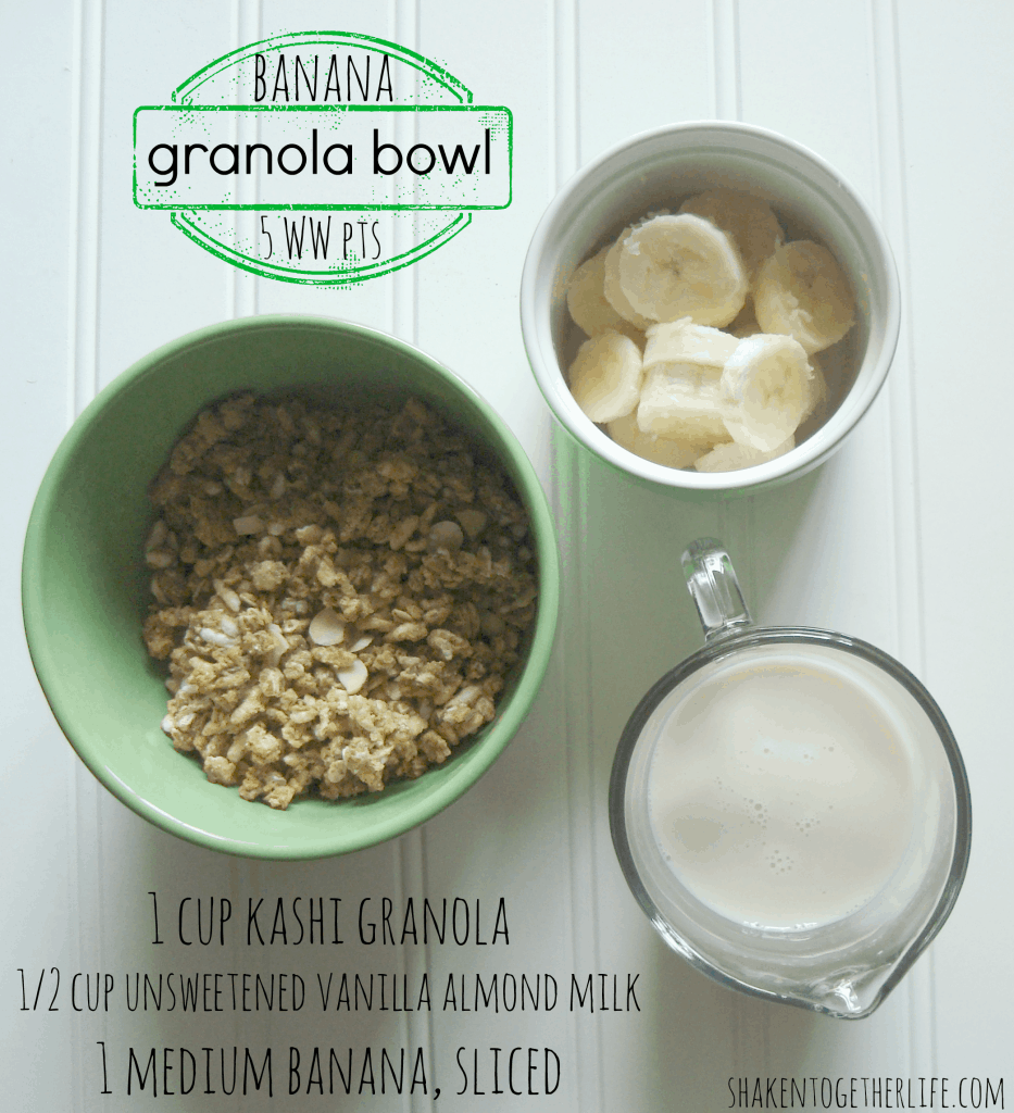 banana granola bowl only 5 WW points at shakentogetherlife.com