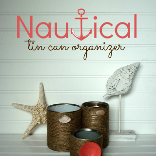 Nautical tin can organizer & All You Magazine