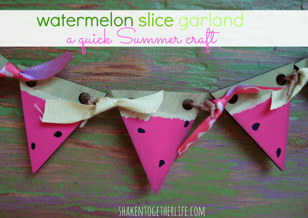 watermelon slice garland at shakentogetherlife.com