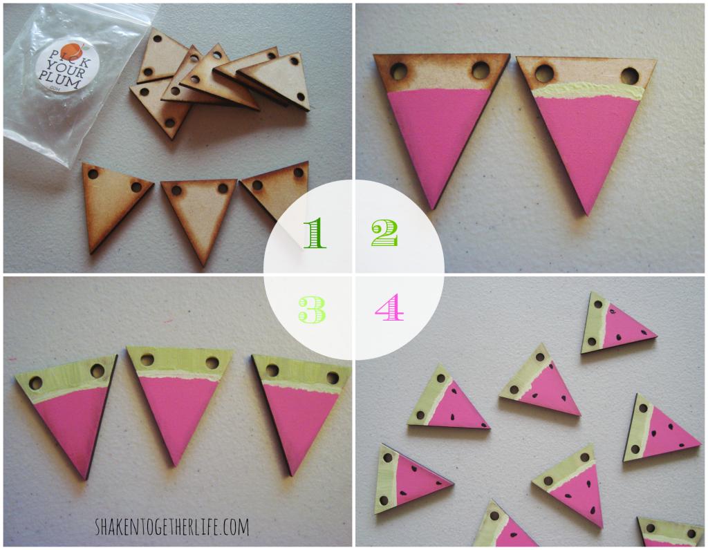 watermelon slice garland :: quick Summer craft tutorial at shakentogetherlife.com