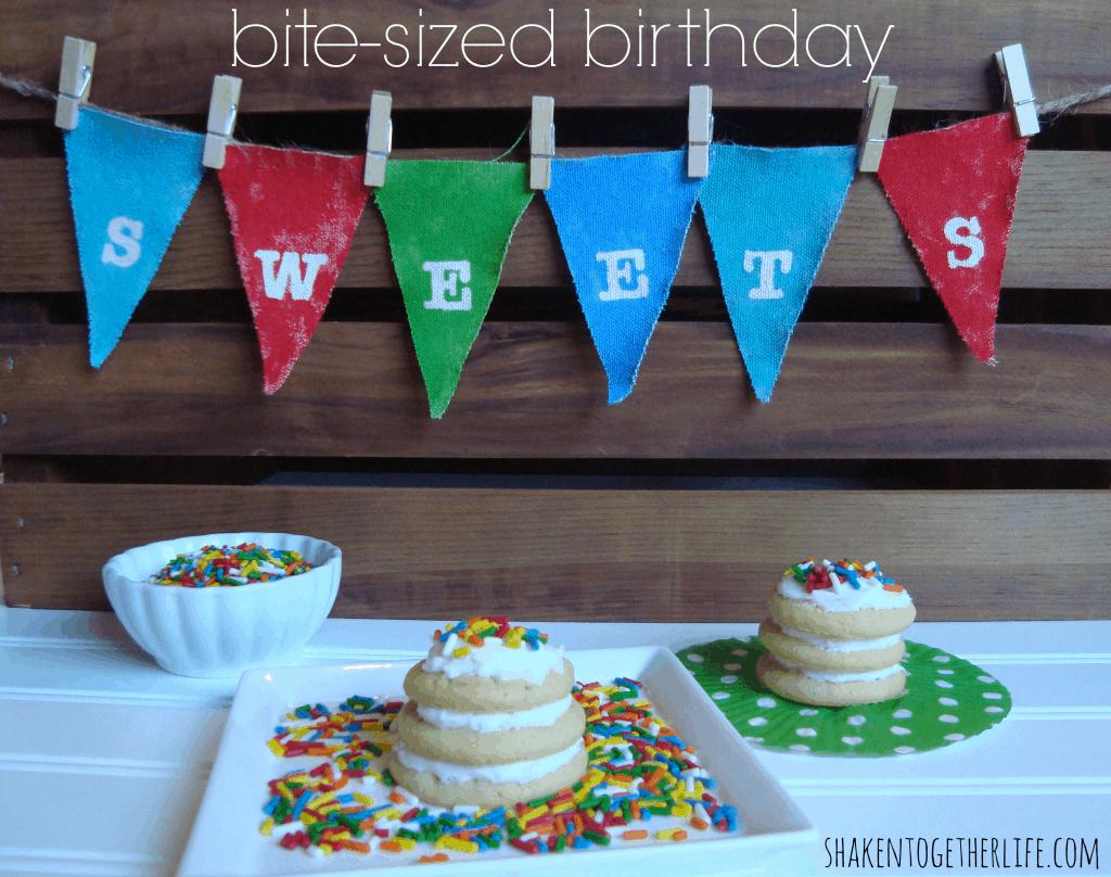 Bite-sized birthday sweets at shakentogetherlife.com