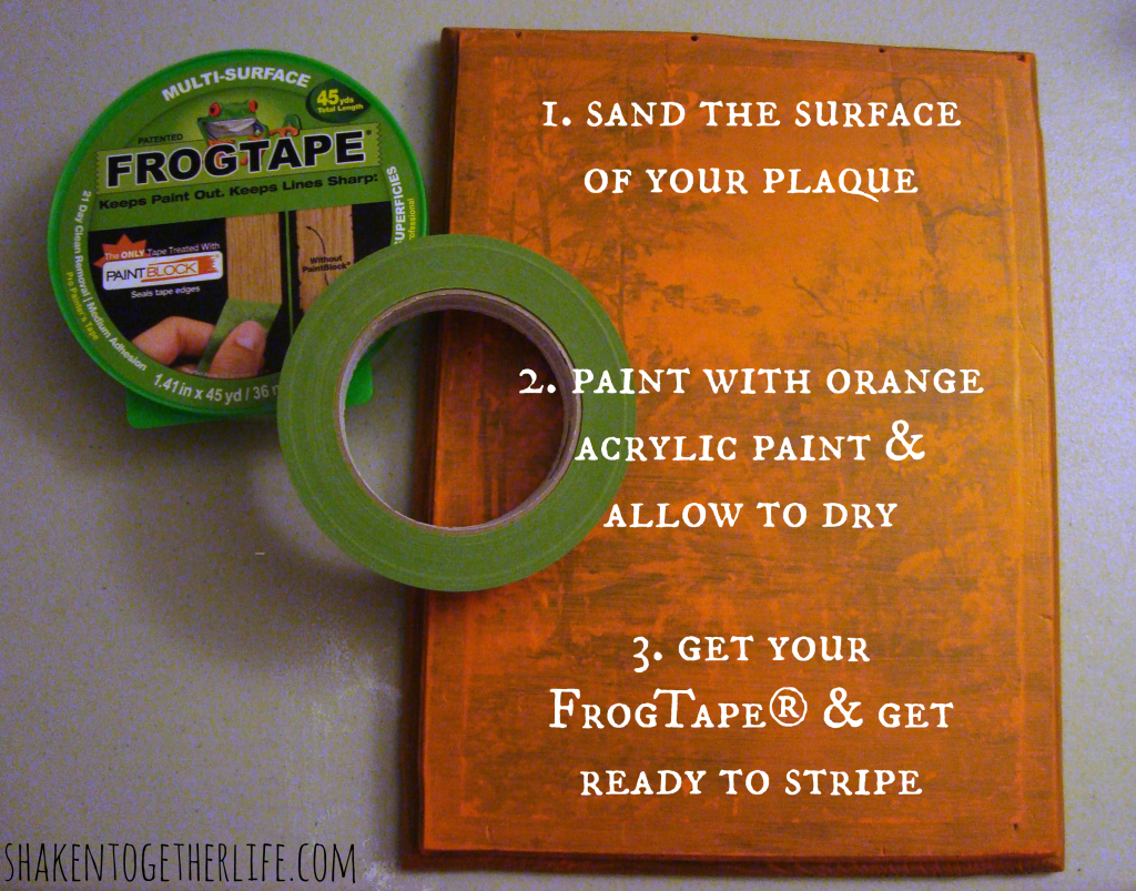 Create a spooky striped Halloween plaque at shakentogetherlife.com