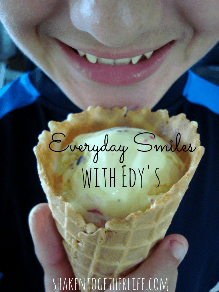 Everyday smiles with Edy's at shakentogetherlife.com