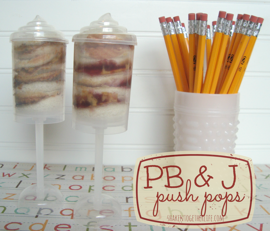 PB & J push pops - a back to school lunch idea at shakentogetherlife.com