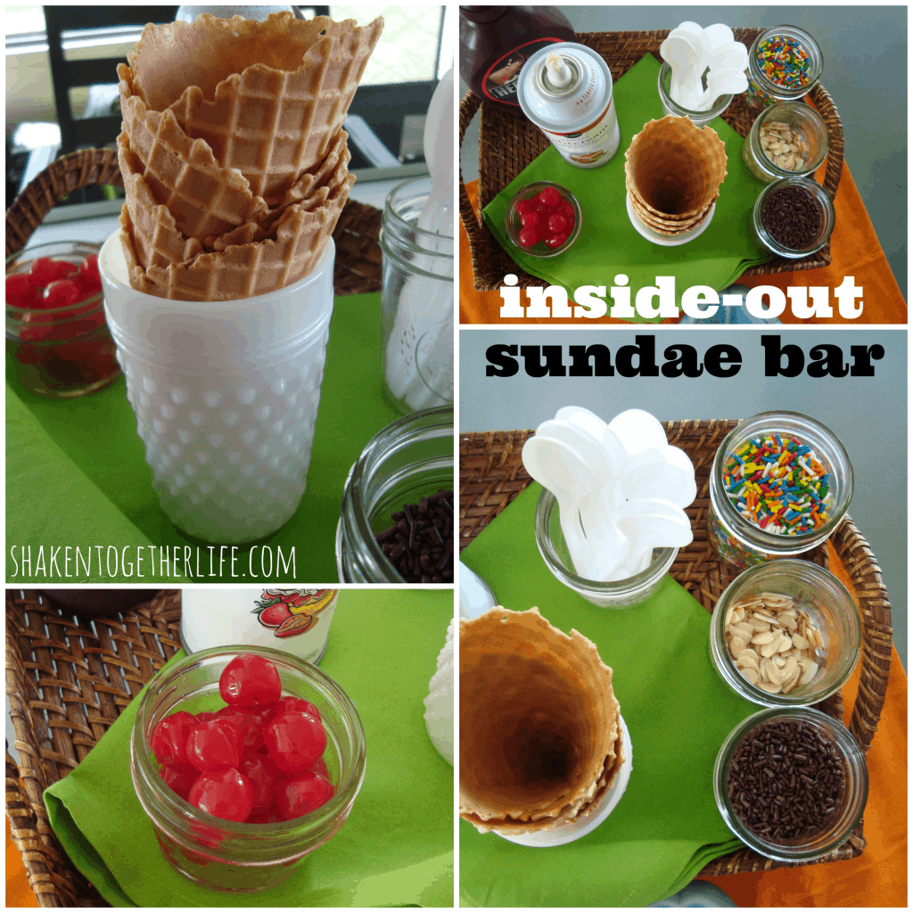 Set up an inside-out sundae bar at shakentogetherlife.com