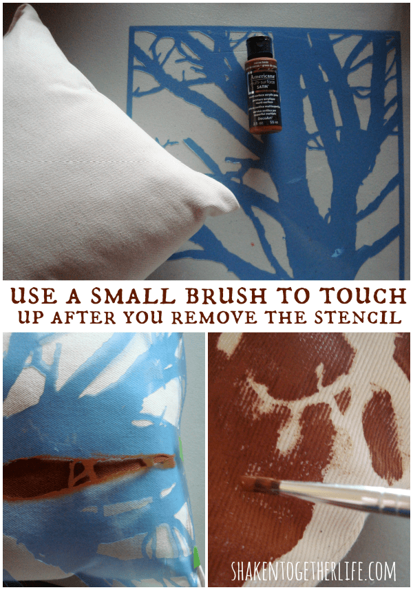 Stenciling tips using Americana paint & stencils at shakentogetherlife.com