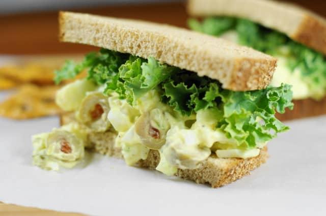 Egg salad with Olives