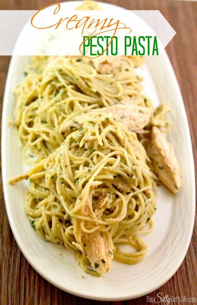 creamy pesto pasta