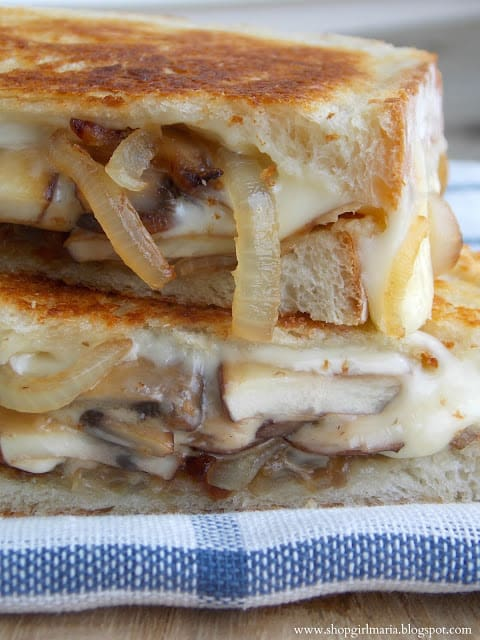 mushroom & carmelized onion grilled cheese