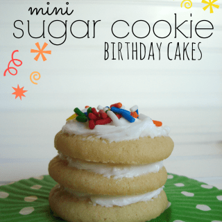 Mini sugar cookie birthday cakes at shakentogetherlife.com