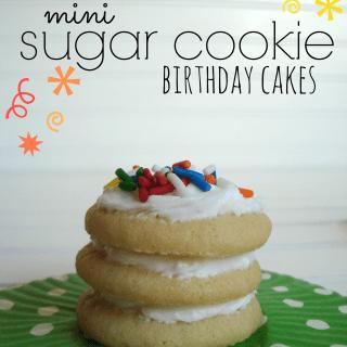 Mini Sugar Cookie Birthday Cakes