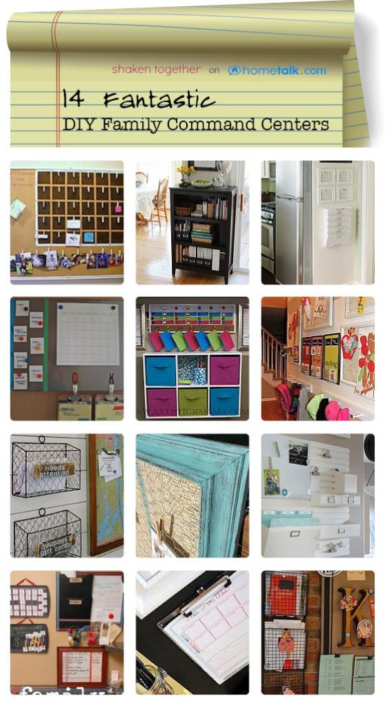14 Fantastic DIY Family Command Centers