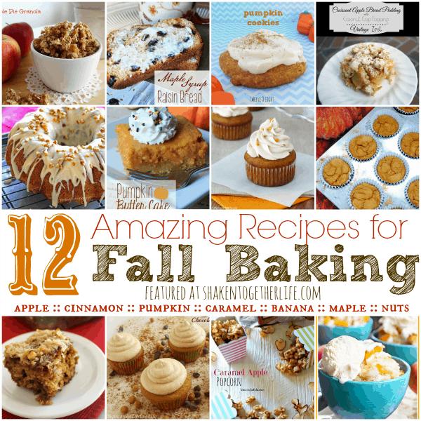 12 Amazing Recipes for Fall Baking featured at shakentogetherlife.com
