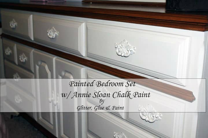 Amazing DIY Painted-Bedroom-Set