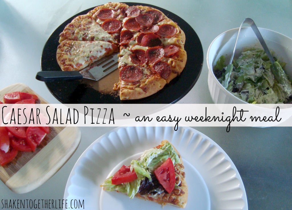 Caesar Salad Pizza with Digiorno Pizzeria Pizza at shakentogetherlife.com #shop