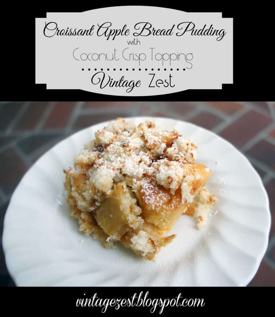 Croissant Apple Bread Pudding