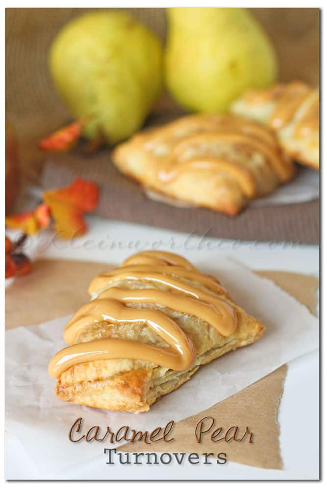 Fall caramel pear turnovers