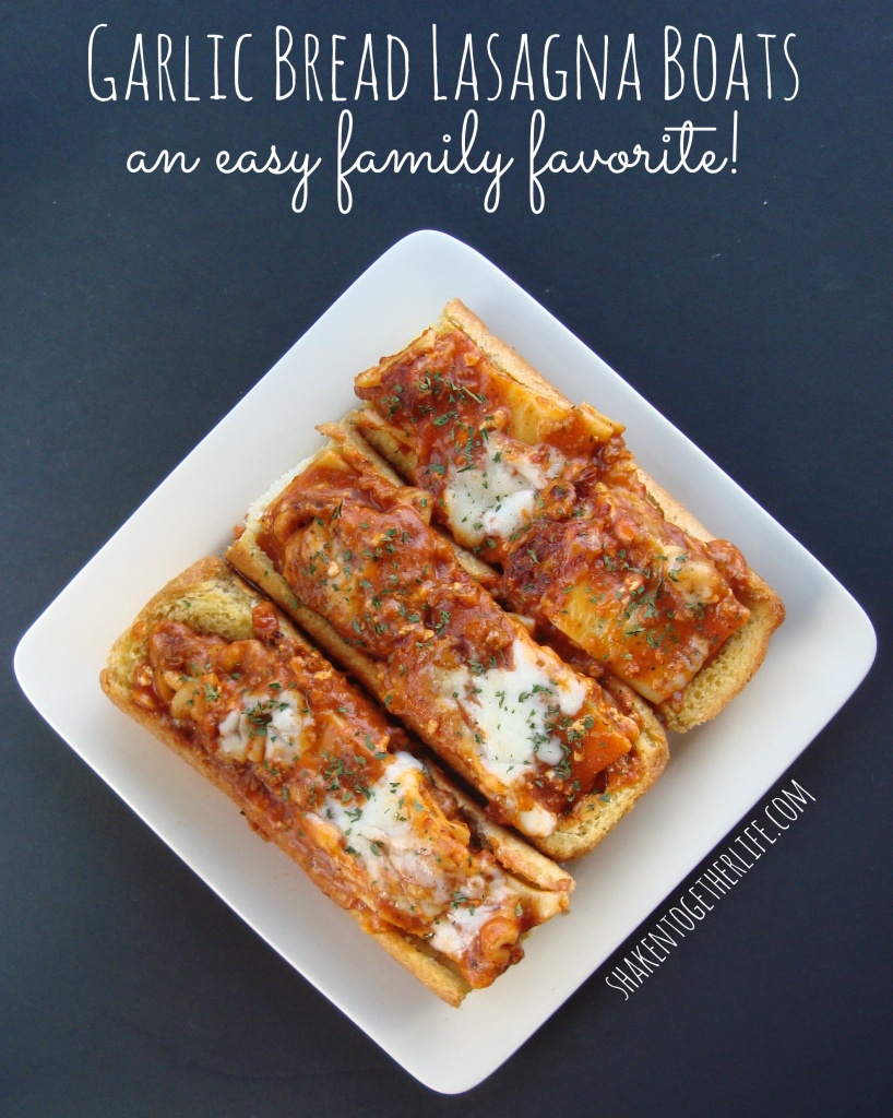 Garlic bread lasagna boats an easy family favorite