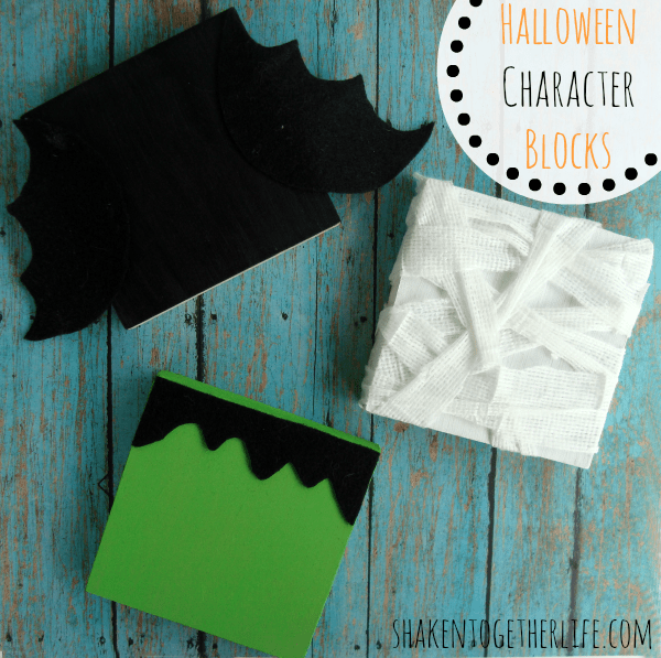 Halloween Wood Block Characters {Shaken Together Life}