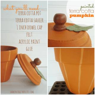 Use a Terra Cotta Pot & Saucer to Make a Painted Pumpkin