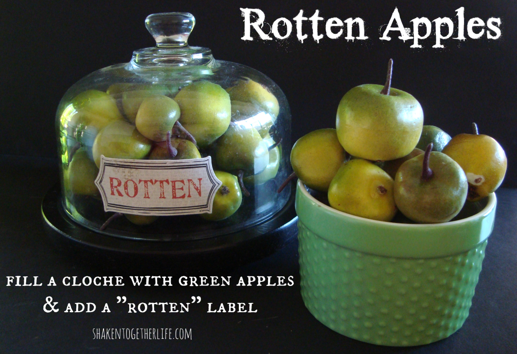 Rotten apples for Halloween at shakentogetherlife.com
