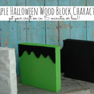 Simple Halloween wood block characters at shakentogetherlife.com
