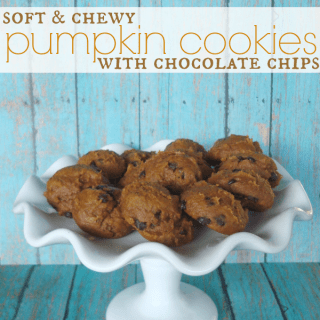 Soft & Chewy Pumpkin Cookies with Chocolate Chips