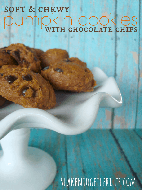 The easiest pumpkin cookies for Fall at shakentogetherlife.com