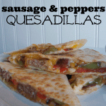 easy sausage & peppers quesadillas at shakentogetherlife.com