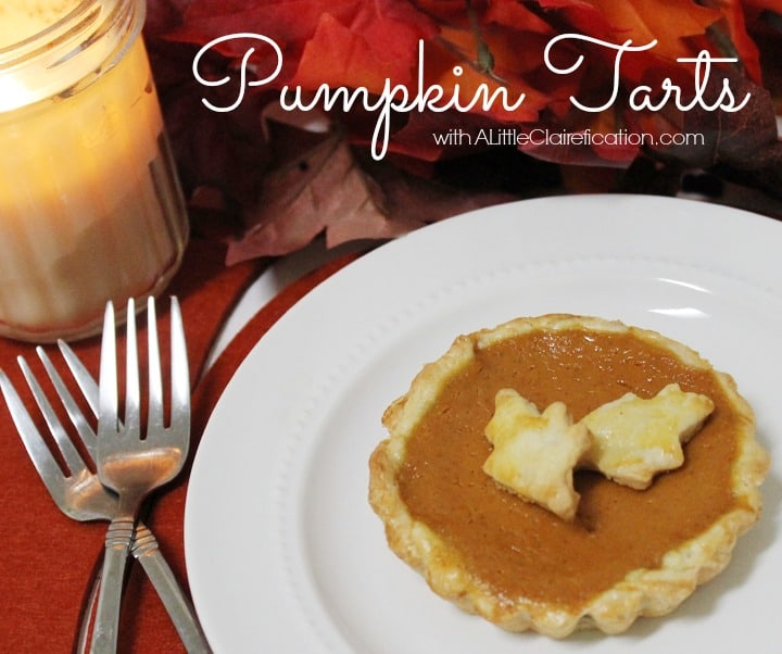 fall pumpkin tarts