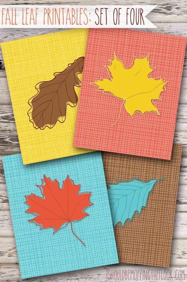 Fall leaf free printables