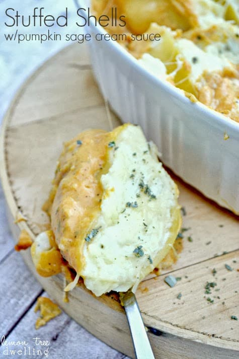 Stuffed Shells wCreamy Pumpkin Sage Sauce 1b