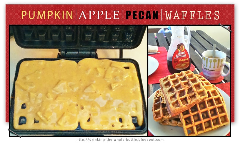 pumpkin apple pecan waffles