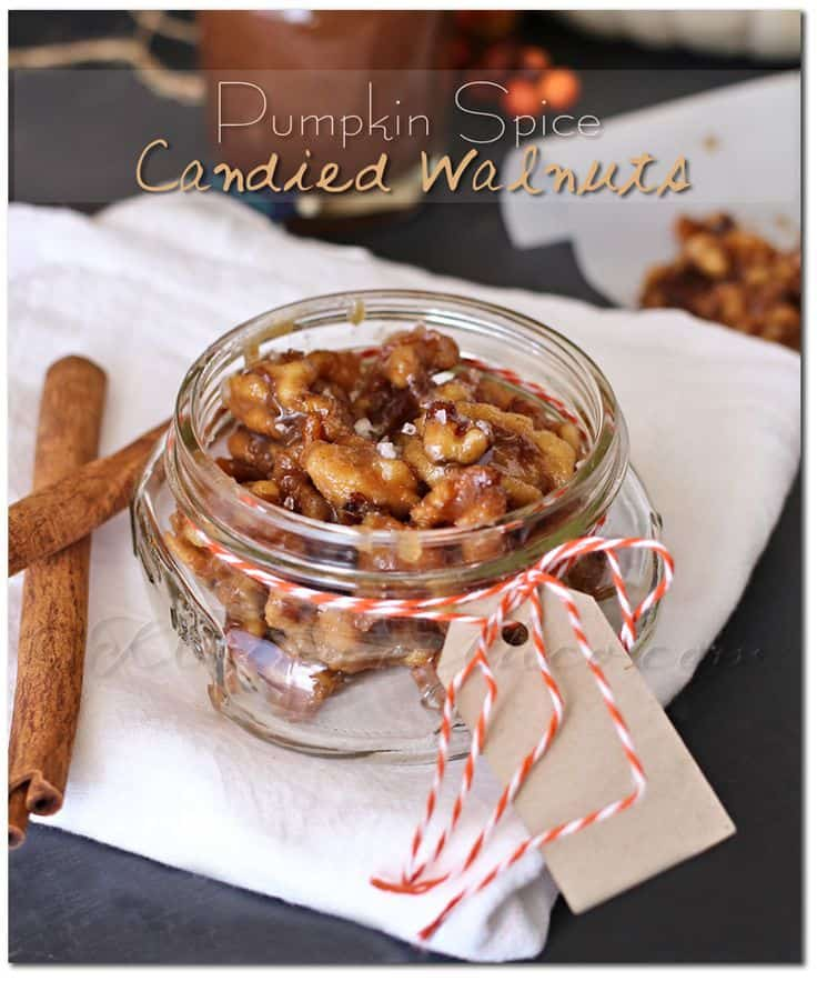 Pumpkin Spice Candied Walnuts at Kleinworth & Co