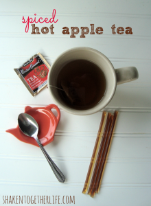 spiced hot apple tea at shakentogetherlife.com