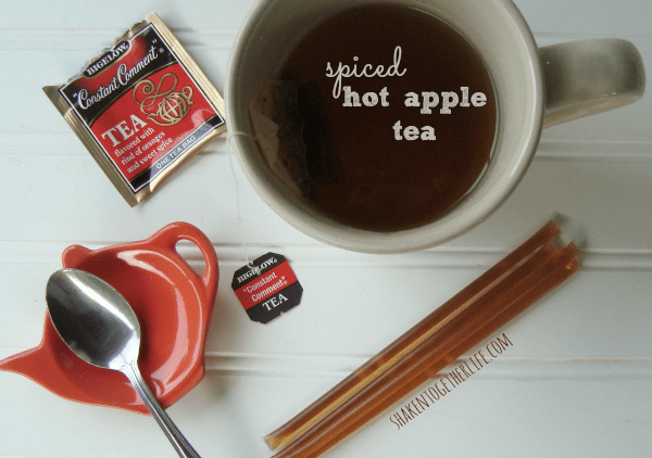 spiced hot apple tea for Fall at shakentogetherlife.com
