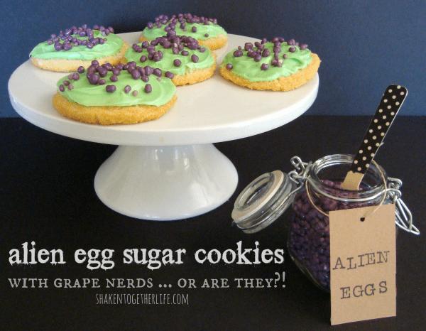 Alien egg sugar cookies at shakentogetherlife.com #shop