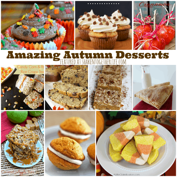 Amazing Autumn Desserts featured at shakentogetherlife.com