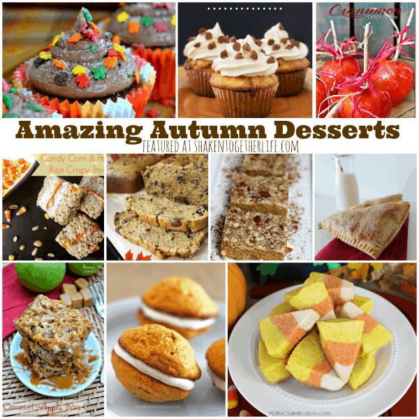 Amazing Autumn Desserts featured at shakentogetherlife.com