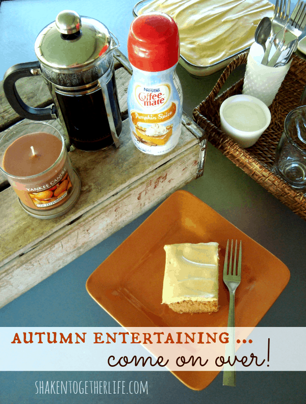 Autumn entertaining with Coffee-mate!  Come on over to shakentogetherlife.com