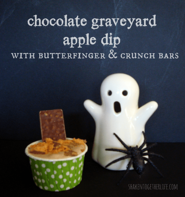 Chocolate Graveyard apple dip at shakentogetherlife.com #shop