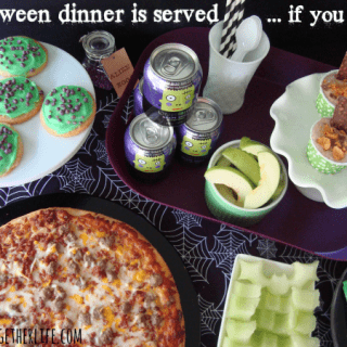 Easy Halloween Dinner Ideas - pizza, graveyard dip, honeydew bats and more!!