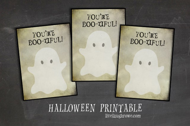 You're Boo-tiful Halloween Printable. Grab yours at livelaughrowe.com