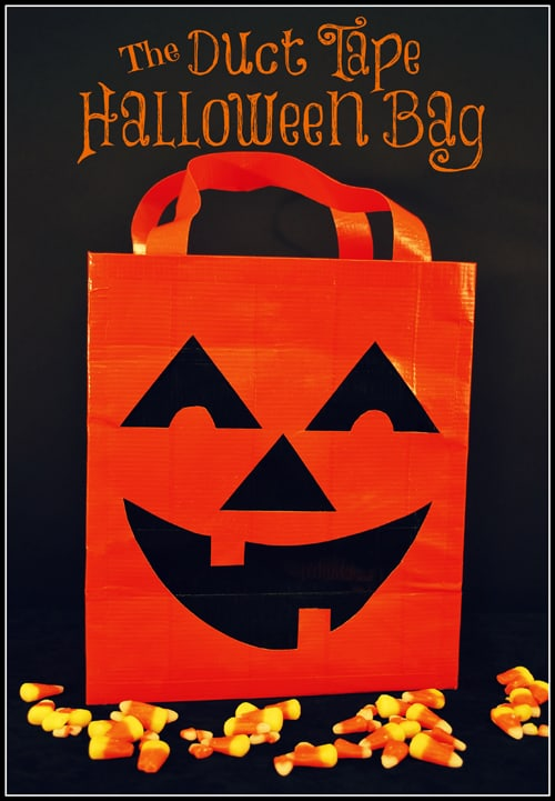 Halloween duct tape bag