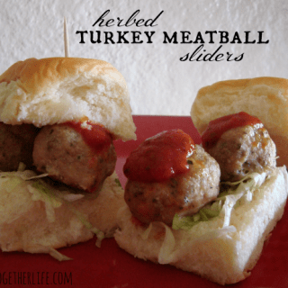 Herbed turkey meatball sliders with McCormick spices at shakentogetherlife.com